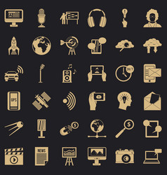 Print icons set simple style vector