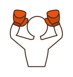 Professional boxer avatar isolated icon vector