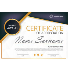 Purple elegance horizontal certificate with vector