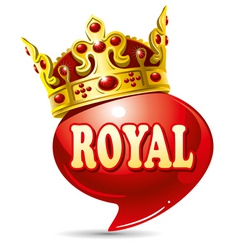 royal speech vector image vector image