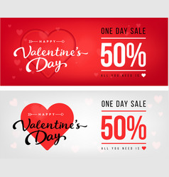 Sale header or banner set with discount offer for vector