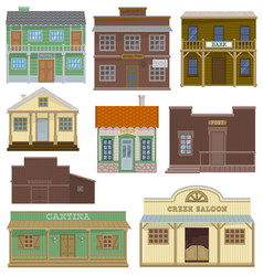saloon wild west housing building and vector image