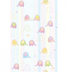 seamless cute pattern of baby vector image