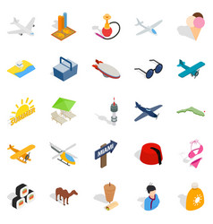See the world icons set isometric style vector