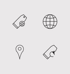 Seo and marketing outline icons set vector