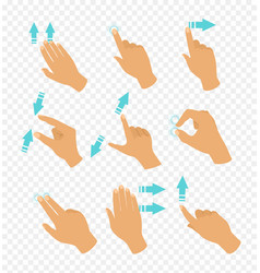 set of hands in different vector image