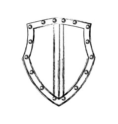 Shield emblem symbol vector