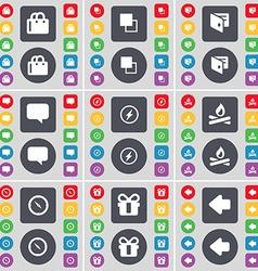 Shopping bag Copy Wallet Chat bubble Flash vector