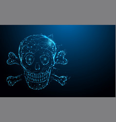 Skull and crossbones form lines and particle vector