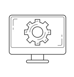 Software support line icon vector