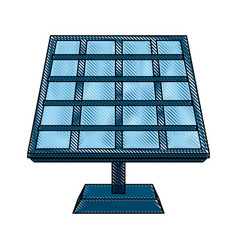 solar panel energy vector image