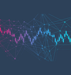 Stock market or forex trading graph chart in vector
