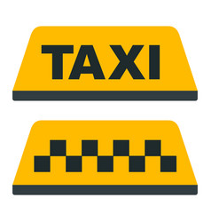 taxi checkered taxi car passenger transportation vector image