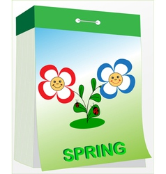 Wall tear off calendar spring vector