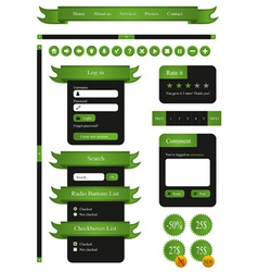 web elements template vector image