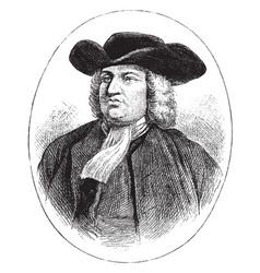 William penn vintage vector