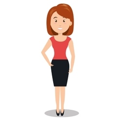 Woman female young person icon vector