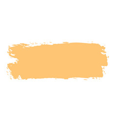 Yellow paint brushstroke vector