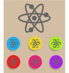 Atomic Symbol Icon with Color Variations vector image