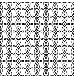 decorative swirled elements pattern vector image vector image
