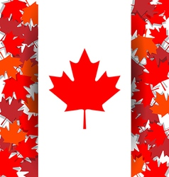 Maple Leaf background for celebrate the national vector image vector image