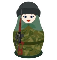 Matryoshka with a sniper rifle vector