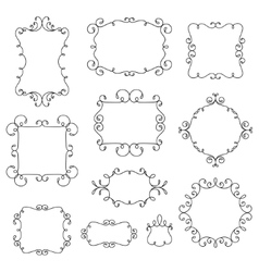 Ornamental decorative frames with swirls vector image