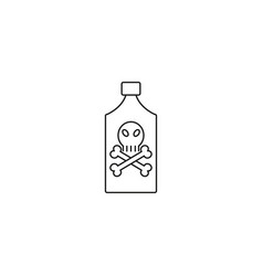 poison bottle line icon vector image vector image