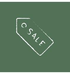 Sale tag icon drawn in chalk vector image vector image