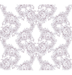 baroque pattern background ornament decor for vector image