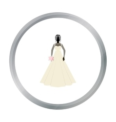 Bride icon in cartoon style isolated on white vector image vector image