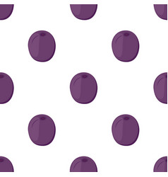 plum seamless pattern made in cartoon flat style vector image