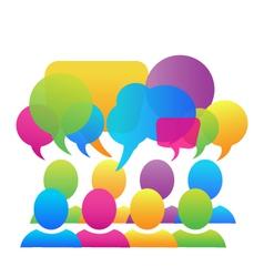 Social media speech bubbles logo vector image