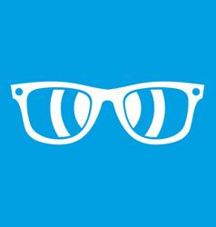 sunglasses icon white vector image vector image