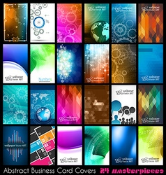24 Abstract quality background for business cards vector image