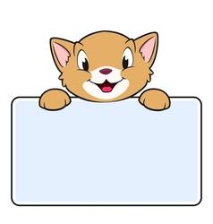 Cartoon Banner Cat vector image