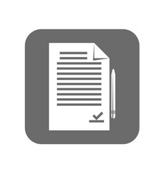 customer service icon with paper document vector image