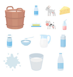 milk product cartoon icons in set collection for vector image vector image
