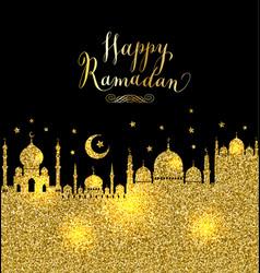 muslim abstract greeting banner islamic vector image