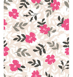 seamless background with wild roses vintage style vector image vector image