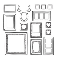 Seamless wallpaper with different frames vector image vector image