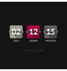 Flip Countdown timer clock counter Flat vector image