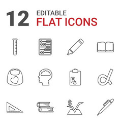 12 education icons vector