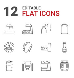 12 oil icons vector image