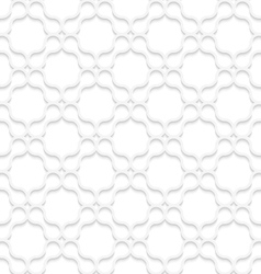 3D white rounded shapes forming grid on white vector