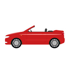 A cartoon red car cabriolet vector