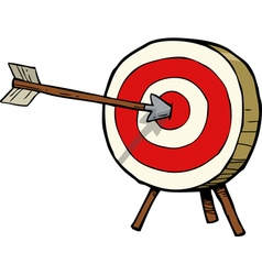 a target with an arrow in the center vector image