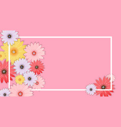 abstract flower background template vector image