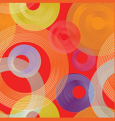 Abstract geometric circle seamless pattern line vector