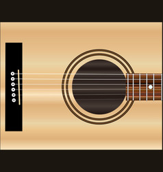 acoustic guitar soundboard vector image